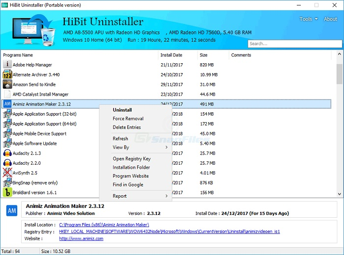 hibituninstaller-setup.exe - HiBit Uninstaller